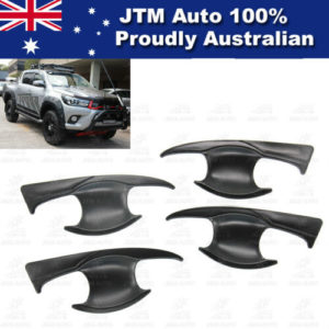 MATT Black Door Bowl Cover Protector to suit Toyota Hilux 2015-2018