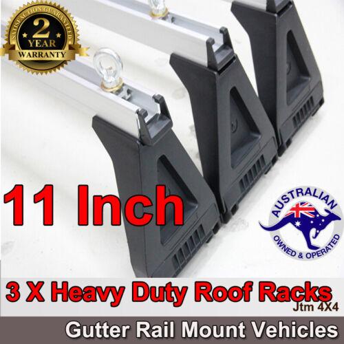 "3 X 11"" Aluminium Heavy Duty Roof Racks For Gutter Rail Mount Vehicles"