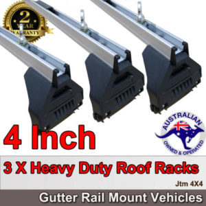 "3 X 4"" Aluminium Heavy Duty Roof Racks For Gutter Rail Mount Vehicles"