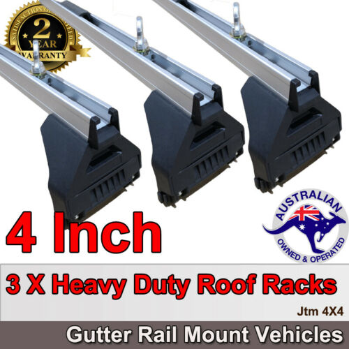 "3 X 4"" Aluminium Heavy Duty Roof Racks For Gutter Rail Mount Vehicles"