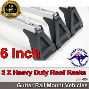 "3 X 6"" Aluminium Heavy Duty Roof Racks For Gutter Rail Mount Vehicles"