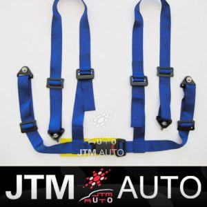 4 POINT BLUE RACING HARNESS SEAT BELT WITH BOLTS
