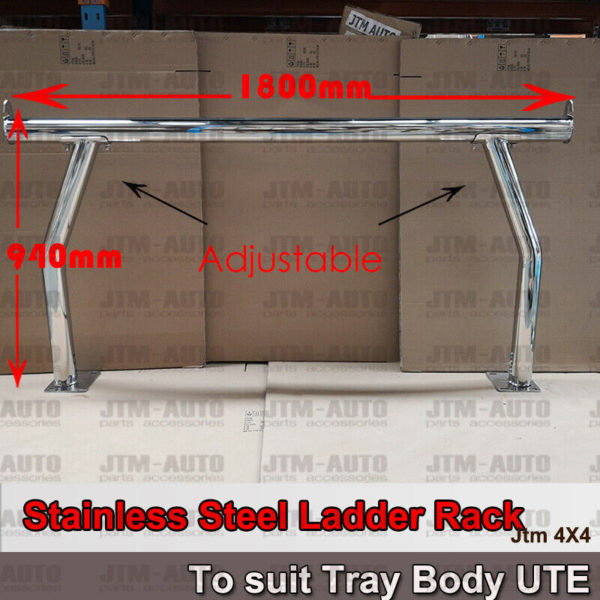 Universal Stainless Steel Ladder Rack Roll Bar For Ute Trays Body H:940mm/1070mm