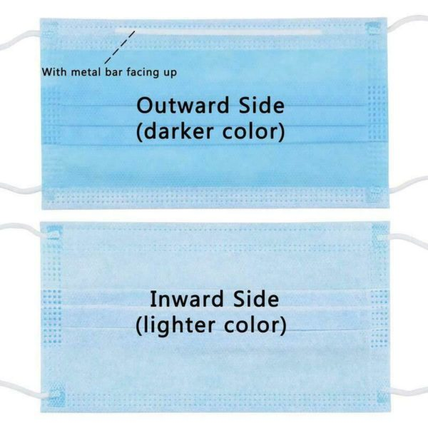 60 x Disposable Medical Surgical Sterile Anti-Bacterial 3 Filter Layer Face Mask
