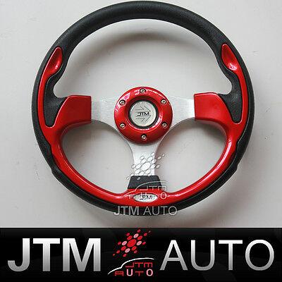 BN JTM 320MM RED ALUMINIUM SPORT STEERING WHEEL