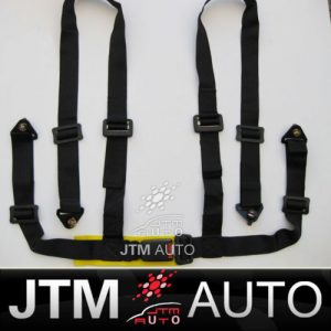 BN BLACK UNIVERSAL 4 POINT RACING HARNESS SEAT BELT
