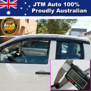 Injection Weather Shields Window Visors to suit D-max Dmax Extra Cab 2012-2020