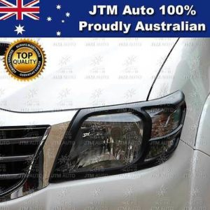 MATT Black Head Light Cover Protector to suit Toyota Hilux 2011 2012 2013 2014
