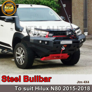 Steel Rocker Bull Bar Winch Compatible to suit Toyota Hilux N80 2015-2018