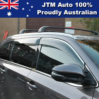 IJ Chrome Weather Shield Weathershield Window Visors to suit Toyota Kluger 14-20