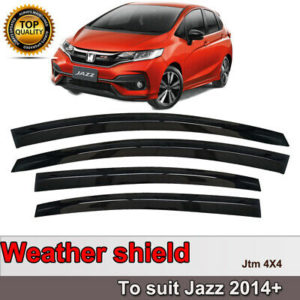 Slim Weather Shield Weathershield Window Visor for Honda Jazz 2014-2020