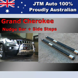 Side Steps + Nudge Bar Stainless Steel to suit Jeep Grand Cherokee 2011-2020