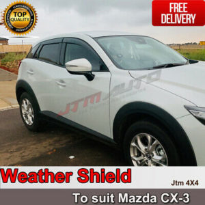 INJ Weather Shield Weathershield Window Visor for Mazda CX3 2015-2020