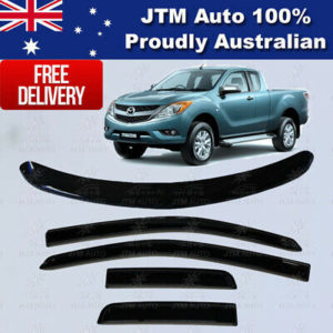 Bonnet Protector + Weathershields Visor for Mazda BT50 BT-50 Extra Cab 2012-2020