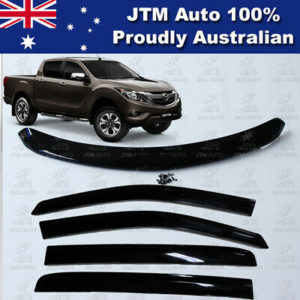 Bonnet Protector + Weathershields Window Visors suit 2012-2020 Mazda BT50 BT-50