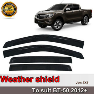 Premium Weather Shields Window Visor Weathershields for Mazda BT50 BT-50 12-20