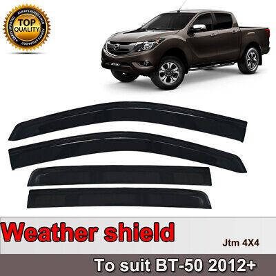 Premium Weather Shields Window Visor Weathershields for Mazda BT50 BT-50 12-20