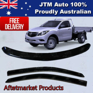 Bonnet Protector + Weather Shields Visor tosuit Mazda BT-50 Single Cab 2012-2020