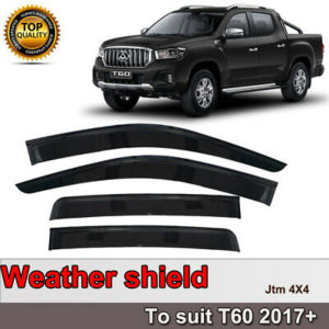 Quality Weather Shields Weathershields Window Visors for LDV T60 2017-2021