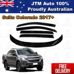 Bonnet Protector + Weather Shields Visor suit Holden Colorado Dual Cab 2016-2020