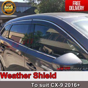 Bonnet Protector + Weather Shields Visor suit Holden Colorado Dual Cab 2016-2020