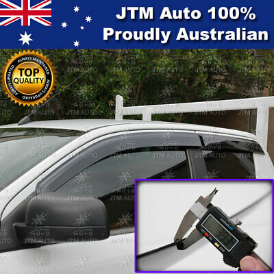 Weather Shields Window Visor to suit Ford Ranger Extra / Super Cab 2012-2020
