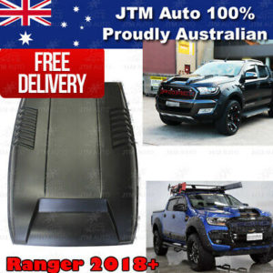 Matt Black Bonnet Scoop Hood Raptor Style to suit Ford Ranger PX2 T7 2015-2018
