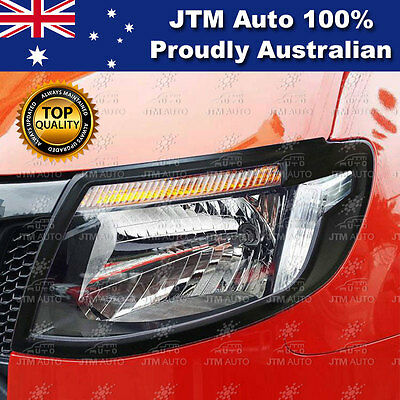 MATT Black Head Light Trim Cover Protector to suit Suits Ford Ranger 2012-2015