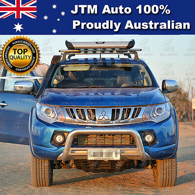 Nudge Bar Stainless Steel Grille Guard For Mitsubishi Triton MQ OEM 2015-2018