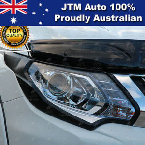 Matt Black Head Light Cover Trim Suits Mitsubishi Triton MQ 2015-2018
