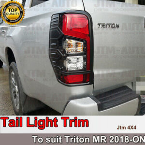 Matt Black Tail Light Cover Trim Suits Mitsubishi Triton MR 2018-2021