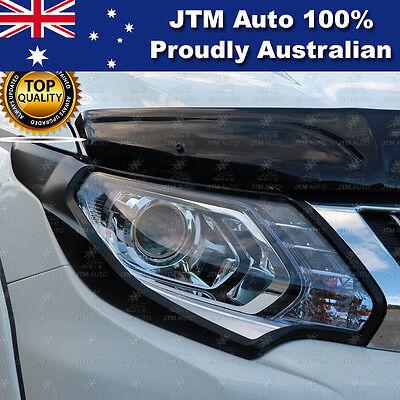 Matt Black Tail Light Cover Trim Suits Mitsubishi Triton MR 2018-2021