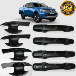 MATT Black Door Handle Bowl Cover Protector For Mitsubishi Triton MQ MR 14 -20