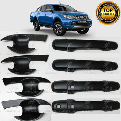 MATT Black Door Handle Bowl Cover Protector For Mitsubishi Triton MQ MR 14 -20