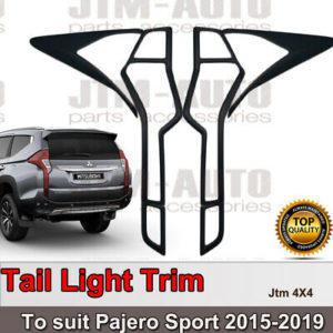 MATT Black Tail Light Cover Trim to suit Mitsubishi Pajero Sport 2015-2020