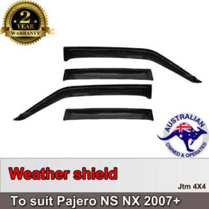 Weathershields Window Visors Weather Shields to suit Mitsubishi Pajero 2007-2020