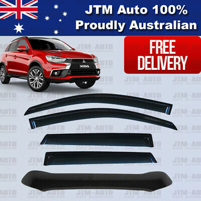 Bonnet Protector + Weather shields Visors to suit Mitsubishi ASX 2016-2019