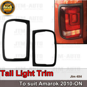 Matt Black Tail Light Cover Trim to suit Volkswagen VW Amarok 2010-2020