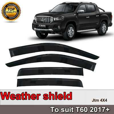 Quality Weather Shields Weathershields Window Visors for LDV T60 2017-2020