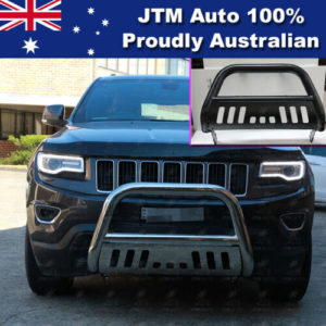 "Matt Black Nudge Bar 3"" Steel Grille Guard to suit Jeep Grand Cherokee 2011-2020"