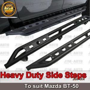 Heavy Duty Armor Steel Off road Side Steps suit Mazda BT-50 BT50 2012-2020