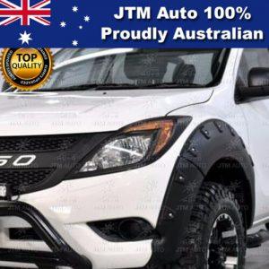 MATT Black Head Light Cover Protector Trim to suit Mazda BT-50 BT50 2012-2019