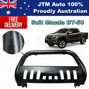 "Black Nudge Bar 3"" Steel Grille Guard to suit Mazda BT-50 BT50 2012-2020"