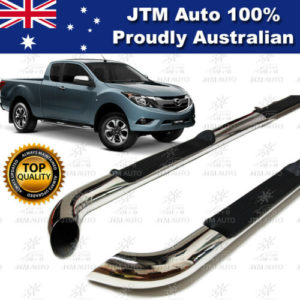 "Side Steps 3"" tainless Steel to suit Mazda BT-50 Super / Extra Cab 2012-2020"