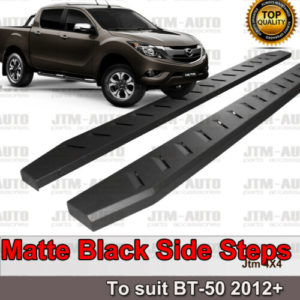 Heavy Duty Steel Black Off road Side Steps suit Mazda Bt-50 BT50 Dual 2012-2020