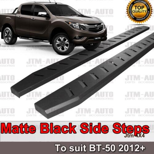 Heavy Duty Steel Black Off road Side Steps suit Mazda Bt-50 BT50 Dual 2012-2020