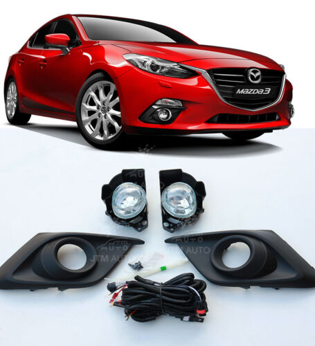Driving/ Fog Lights Lamps Spot Lamps Kit to suit Mazda 3 Mazda3 2014-2016