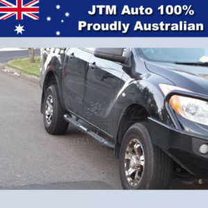 Running Boards Black Steel Side Steps to suit Mazda BT50 Dual Cab 2011-2020