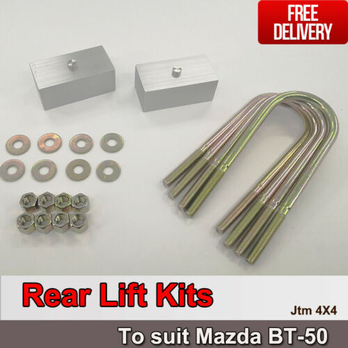 "Lift Up 2"" Rear Suspension Block Spacer Lift Kit for Mazda BT-50 BT50 2012-2018"