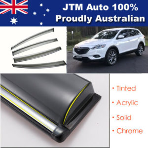 INJ Chrome Weather Shield Weathershield Window Visor for Mazda CX9 2007-2015